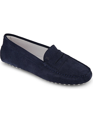 TODS Unisex pebble grip leather moccasins 7-9 years