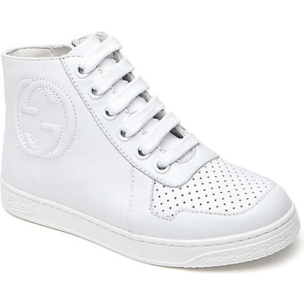 GUCCI Leather high-tops trainers 6 months-12 years (White