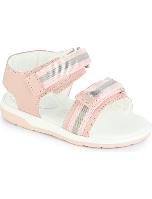 GUCCI Leather web detail sandals 12 months - 3 years