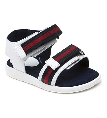 GUCCI Leather web detail sandals 12 months-9 years (White