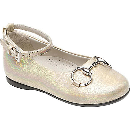 GUCCI Ballerina leather shoes 6 months-12 years (Gold