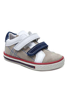 STEP2WO Thomas suede and leather Velcro trainers 1-4 years