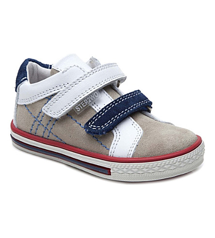 STEP2WO Thomas suede and leather trainers 1-4 years (Beige