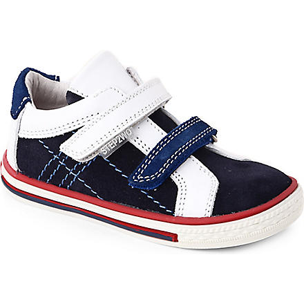STEP2WO Thomas suede and leather trainers 1-4 years (Navy