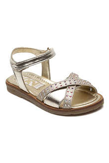 STEP2WO Antipolis metallic leather sandals 3-8 years