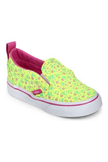 VANS Floral slip-on V shoes 2-5 years