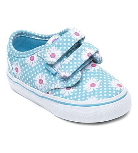 VANS Daisy-print canvas trainers 2-4 years (Turquoise