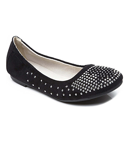 STEP2WO Harvest studded suede pumps 7-11 years (Black
