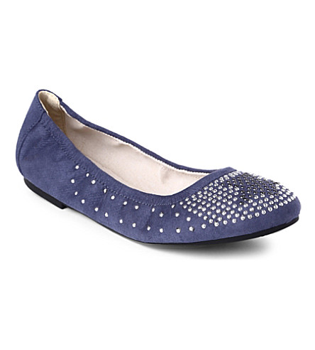 STEP2WO Harvest studded suede pumps 7-11 years (Blue
