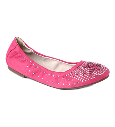 STEP2WO Harvest studded suede pumps 7-11 years (Fuchsia