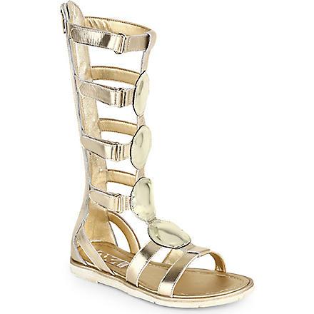STEP2WO Nefertiti leather sandals 6-11 years (Gold