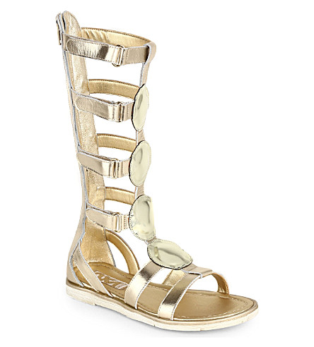 STEP2WO Nefertiti leather sandals 6-11 years (Gold
