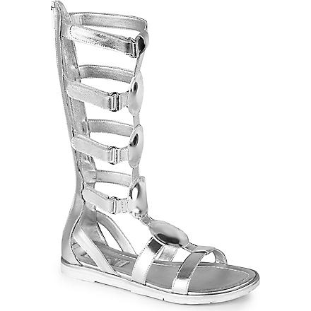 STEP2WO Nefertiti leather sandals 6-11 years (Silver