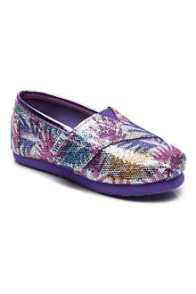 TOMS Palm print glitter classic shoes 2-11 years