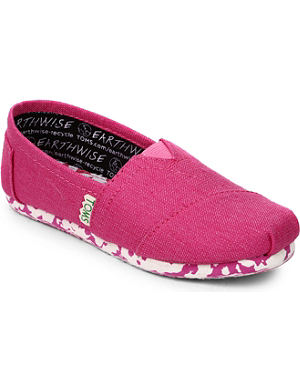 TOMS Earthwise classic unisex shoes 1-11 years
