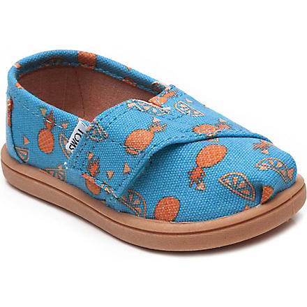 TOMS Pineapple print shoes 2-11 years (Orange