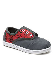 TOMS Peace bike canvas cordone trainers 3-8 years