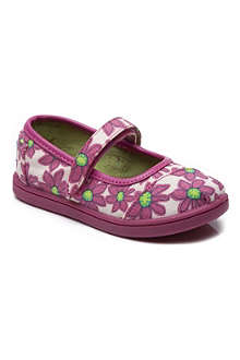 TOMS Pink daisy canvas mary jane shoes 3-7 years