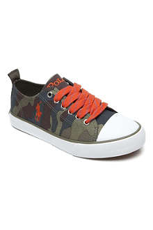 RALPH LAUREN Camouflage-print lace-up trainers 8-12 years