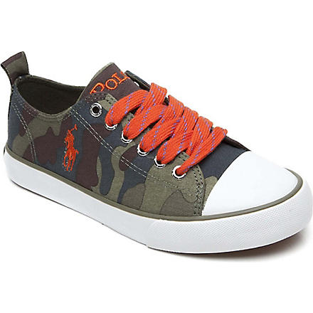 RALPH LAUREN Camouflage-print lace-up trainers 8-12 years (Camouflage
