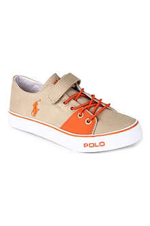RALPH LAUREN Velcro and lace-up canvas shoes 3-8 years