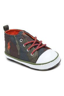 RALPH LAUREN Camouflage-print lace-up trainers 6-9 months