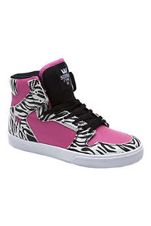 SUPRA Zebra high-top trainers 7-12 years