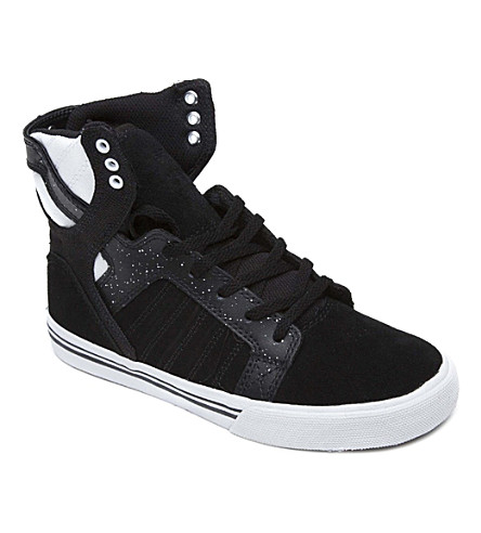 SUPRA Monochrome high tops 7-11 years (Black/white