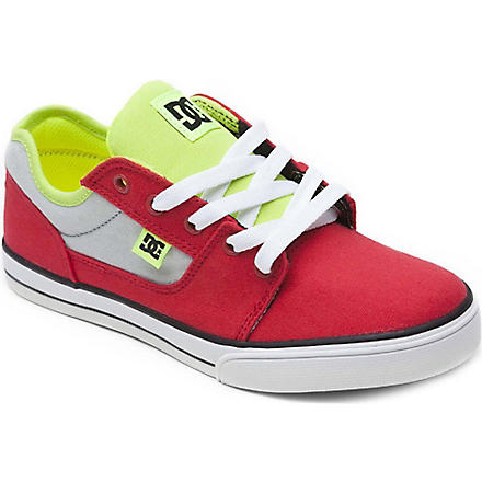 DC Unisex lace trainer 6-12 years (Red