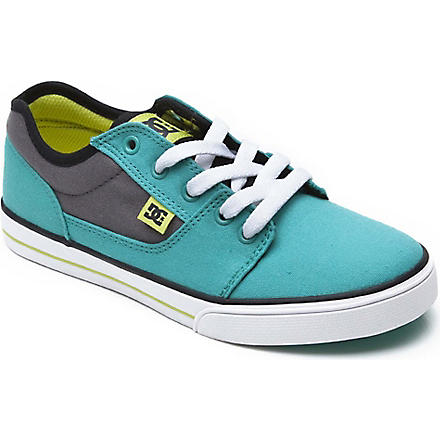 DC Unisex lace trainer 6-12 years (Turquoise