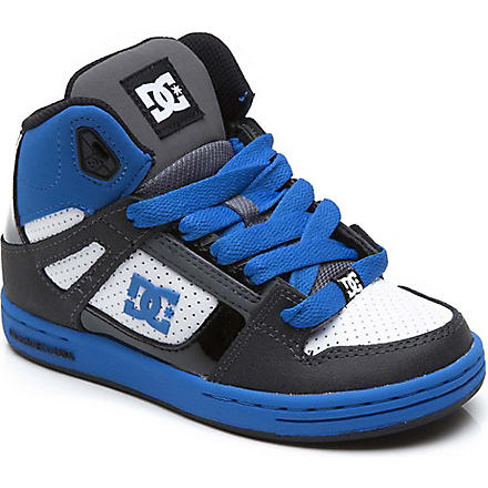 DC Rebound hi-top trainers 5-12 years (Blue