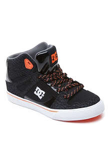 DC Spartan hi-top skate trainers 6-12 years
