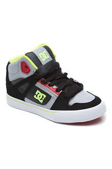 DC Spartan mid-top trainers 6-12 years