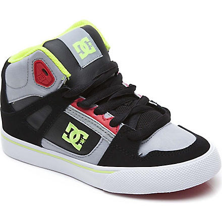 DC Spartan mid-top trainers 6-12 years (Grey