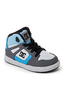 DC Rebound hi-top skate trainers 2-4 years