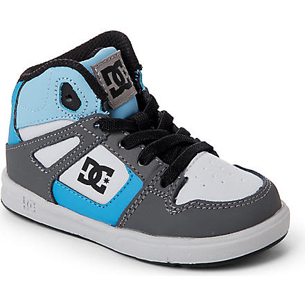 DC Rebound hi-top skate trainers 2-4 years (Blue