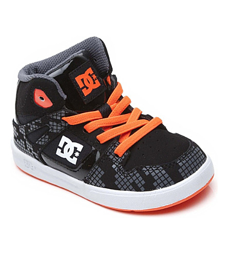 DC Spartan mid-top trainers 2-5 years (Black