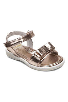 STEP2WO Candy bow-detailed metallic sandals 3-8 years