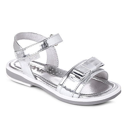 STEP2WO Candy bow-detailed metallic sandals 3-8 years (Silver