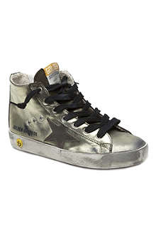 GOLDEN GOOSE Metallic high-top trainers