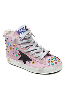 GOLDEN GOOSE Francy jewelled high top trainers 7-9 years
