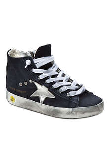 GOLDEN GOOSE Denim high-top trainers
