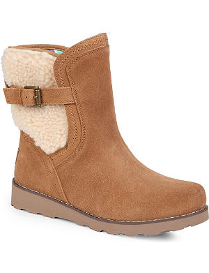 UGG Jayla suede and wool ankle boots 7-11 years