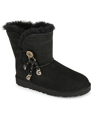 UGG Bailey letter charm boots 7-11 years