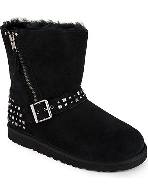 UGG Blaise stud sheepskin ankle boots 7-11 years
