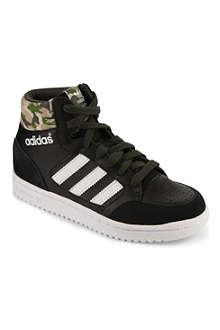 ADIDAS Leather and suede-trimmed high-top trainers 6-11 years