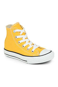 CONVERSE Girls canvas hi top trainers 2-8 years