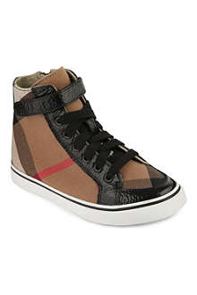 STEP2WO House check high-top trainers