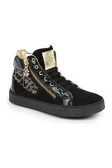 STEP2WO Suede crystal embellished trainers 6-11 years