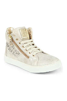 STEP2WO Crystal-embellished suede trainers 7-11 years
